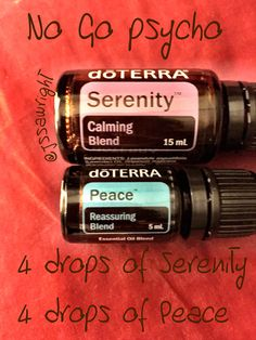 4 drops Serenity 4 drops Peace The combination of Lavender and Hawaiian Sandlewood with the Mint and floral gives off a sweet, rose like smell which helps promote relaxation and an ataractic feeling.