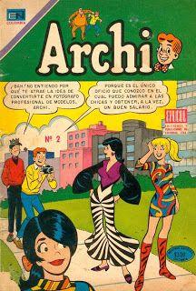 Archie comic from Chile. Vintage Comic Books, Vintage Cartoon, Vintage Comics, Betty Boop, Comics Mexico, Betty And Veronica, Cartoon Tattoos, Comic Panels, Old Cartoons
