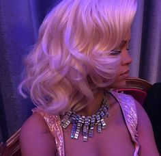Rihanna behind the scenes of Valerian. B A R B I E DOLL #beautiful brown black queens girl with blonde hair