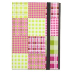 Girly Plaid Patchwork Inspired iPad Case