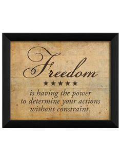 Freedom Definition (Framed) by The Artwork Factory at Gilt