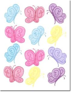 Pastel Butterfly Wall Stickers