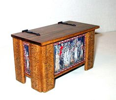 Tudor Blanket Chest Medieval Dollhouse Miniature by CalicoJewels, $70.00