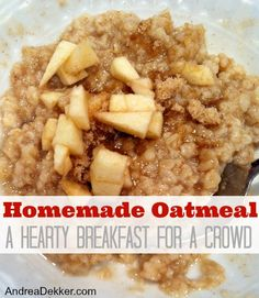 Homemade Oatmeal: A Hearty Breakfast for a Crowd - Simple Organized Living