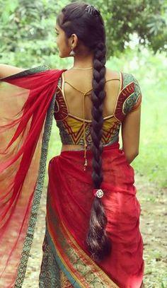 Beautiful Girl Indian, Beautiful Girl Image, Beautiful Indian Actress, Indian Hairstyles For Saree, Loose Hairstyles, Braided Hairstyles, Indian Long Hair Braid, Braids For Long Hair, Beauty Full Girl