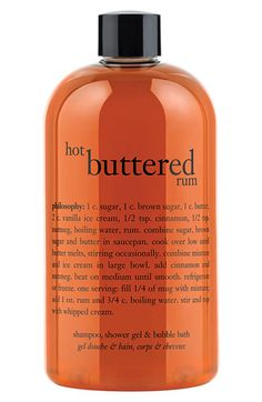 philosophy 'hot buttered rum' shampoo, shower gel & bubble bath available at #Nordstrom