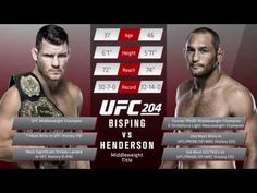 UFC (Ultimate Fighting Championship): UFC 204: Inside The Octagon Bisping vs. Henderson