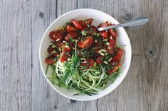 Truffled Delights: Basil Zucchini Noodles