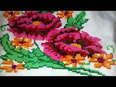 Unas rosas en punto de Cruz - YouTube