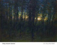 Small Paintings, Landscape Paintings, Landscapes, Deep Autumn, Twilight, Scene, Studio, Artists, Night