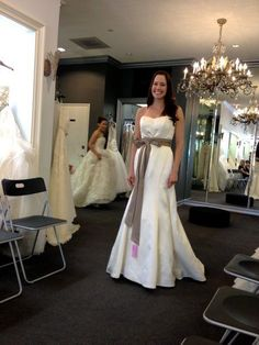 Sareh Nouri Bridal Trunk Show at Mon Amie Bridal April 2013. Gown is 'Caressa'. #sarehnouri #trunkshow