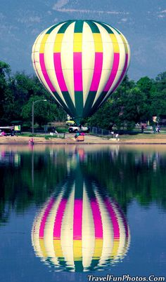 Hot Air Balloon at Prospect Lake, Colorado Springs, Colorado, Life with a view is just a lift away:)