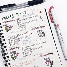 august 11 | 10:28am ° im probably going to give up on bullet journaling