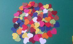 Cuore/fustellati/colori forti/            100 cuori fustellati