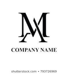 Am Logo Images, Stock Photos & Vectors Monogram Design, Monogram Logo, Clever Logo, Calligraphy Words, Photography Logo Design, Initials Logo, Name Logo, Logo Images, Logo Design Inspiration