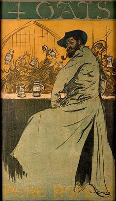 Els Quatre Gats (1900) - poster de Ramón Casas y Carbó - Museu Nacional de Arte da Catalunha, Espanha  Els Quatre Gats (Os Quatro Gatos em espanhol) foi um estabelecimento hosteleiro (cervejaria, cabaret, restaurante)  inaugurado em Barcelona em 12 de Junho 1.897  Durante os seis anos que permaneceu ativo até 1903, ele se tornou um dos marcos do modernismo catalão. Foi reaberto com o mesmo nome no início dos anos 1970.  Quatro gatos é uma expressão coloquial catalã para (poucas pessoas) e o…