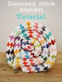 free crochet pattern diamond stitch blanket