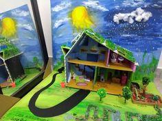Maqueta casa autosostenible