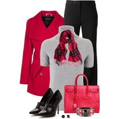 Pink coat, created by mommygerloff on Polyvore