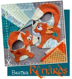 Fuchs Lätzchen - cutest fox baby bibs EVER! Sewing Patterns For Kids, Sewing Projects For Kids, Sewing For Kids, Baby Sewing, Baby Patterns, Diy For Kids, Baby Couture, Couture Sewing, Diy Baby Gifts