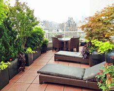 Modern Balcony, Outdoor Furniture Sets, Outdoor Decor, Patio, Home Decor, Balconies, Patio Set Up, Planting