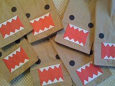 What little boy wouldn't love a monster bag with sharp teeth. Lots of simple cutting practice here ... and some black stickers for the eyes