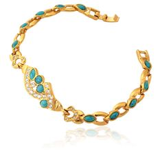 bracelete turquesa e ouro - Pesquisa Google