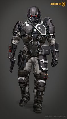 Concept art of the Helghast from Killzone Shadow Fall exclusive to the PlayStation 4 made by Guerrilla Games. Rpg Star Wars, Killzone Shadow Fall, Combat Armor, Military Armor, Futuristic Armour, Sci Fi Armor, Suit Of Armor, Body Armor, Future Soldier