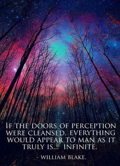 Perception is the mother of Deception, dont let this worlds illusion fool you, because you are Infinite! The Doors Of Perception, A Course In Miracles, Spirit Science, William Blake, Spiritual Wisdom, Spiritual Warrior, Spiritual Messages, Spiritual Enlightenment, Spiritual Path