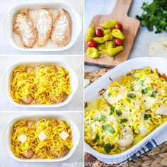 This Mississippi Chicken recipe is EASY + DELICIOUS! There is no better busy weeknight meal, than one that comes together quickly, is packed with flavor and leaves little to clean up. This Missis… Oven Chicken, Baked Chicken Recipes, Oven Recipes, Crockpot Recipes, Keto Recipes, Dinner Recipes, Healthy Recipes, Recipes With Banana Peppers, Stuffed Banana Peppers