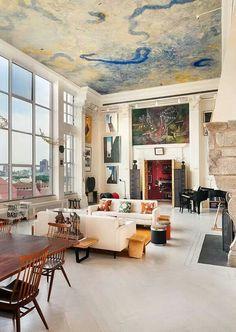 Dream no. 2 : Living in a New York loft appartment New York Loft, Ny Loft, Home Design, Design Ideas, Design Design, Design Trends, Interior Design New York, Design Room, Design Firms