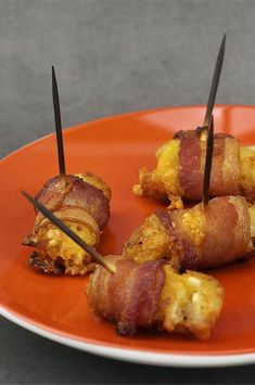 "Bacon-Wrapped Tater Tots® | ""Turned out very well - we took them to a potluck dinner party and everyone loved them."" #footballrecipes #gamedayrecipes #tailgatingrecipes #superbowlrecipes #superbowlparty #superbowlpartyideas Potluck Dinner Party, Bacon Wrapped Tater Tots, Dip Recipes, Party Recipes, Tailgating Recipes, Football Food, Game Day Food, Best Appetizers, Finger Foods"