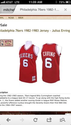 Mitchell and Ness Dr J jersey c28f627dd