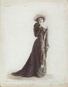 La Belle Otero par Leopold REUTLINGER - Le Figaro-Modes 1901  Caroline Otero aka La Belle Otero  Demi-Mondaine d'origine espagnole