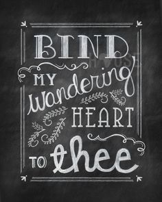 Wandering Heart Chalkboard Print by kendrahouse on Etsy, $12.00