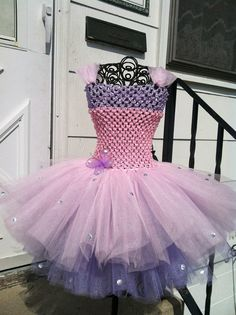 Light pink and lavender Tutu dress 6-10 years. $55.00, via Etsy.