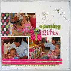 """""""Opening Gifts"""" Side 2 several other nice birthday pages at this site"""