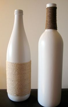 Turning a House into a Home {creating beauty on a budget}: I Don't Recycle - I Decorate....With Wine Bottles