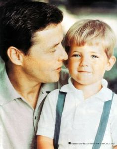 Stephen Smith with his youngest son William Kennedy Smith