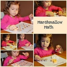 sorting and patterns with halloween marshmallows