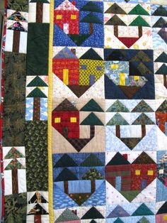 Hearts in the Pines Quilt by Occasional Piece. Block templates included. I love this.
