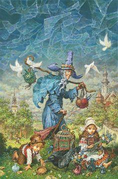 Illustration by Anton Lomaev. Fairy Land, Fairy Tales, Hansel Y Gretel, Photo D Art, Art Activities For Kids, Witch Art, Fairytale Art, Historical Art, Russian Art