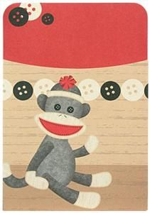 Sock Monkeys Self-Adhesive Book Pockets - Go bananas #teaching in a #classroom setting full of appealing and fun-loving Sock Monkey resources. Find every decorating and organizing need for a successful Sock Monkey makeover. This classroom theme will knock your socks off!