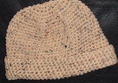 Men's Large Crochet Beanie Cap   Crochet Geek - Free Instructions and Patterns