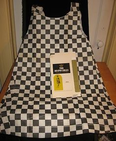 Vintage RARE 1960's Paper Dress Disposable Checkered w Original Box Glam Mod | eBay