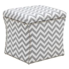 Storage Ottoman - Zig Zag from Z Gallerie.... Need this for my bedroom! In love with anything chevron.