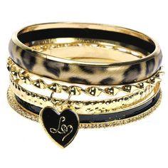 Lipsy Diamante Animal Bracelets (975 INR) ❤ liked on Polyvore featuring jewelry, bracelets, accessories, pulseiras, bracciali, women, heart shaped pendant, twist jewelry, heart bangle bracelet and animal pendant
