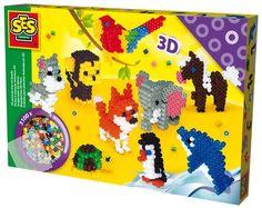 3D Knutselen is helemaal in! En met dit unieke 3D strijkkralen pakket van SES kun je van strijkkralen schattige 3D dieren maken. Volg de voorbeelden en maak van strijkkralen een olifant, hond, aap, dolfijn, paard, vos, schildpad, pinguïn en papegaai.