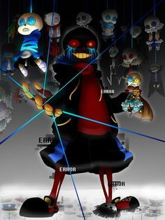 """hezuart: """" ERROR!SANS shoutout to @loverofpiggies Sans says """"take a break kid, ya need it. I can only keep up with so many storylines to destroy after all!"""" Also high fives to @dokudoki for Core!Frisk and @comyet for Ink!Sans """" WOOOAAHHHH YOUR..."""