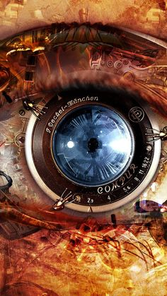 Mechanical Eye Steampunk #iPhone #6 #plus #wallpaper